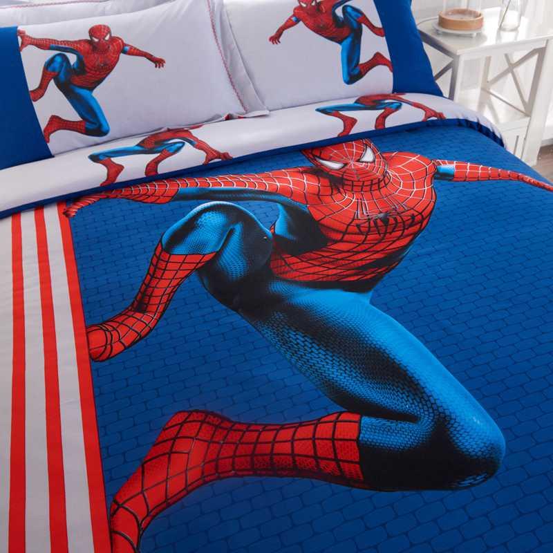 Youth Kids Bedroom Batman Dark Knight Twin Size Platform: Amazing Spider Man Teen Bedding Set