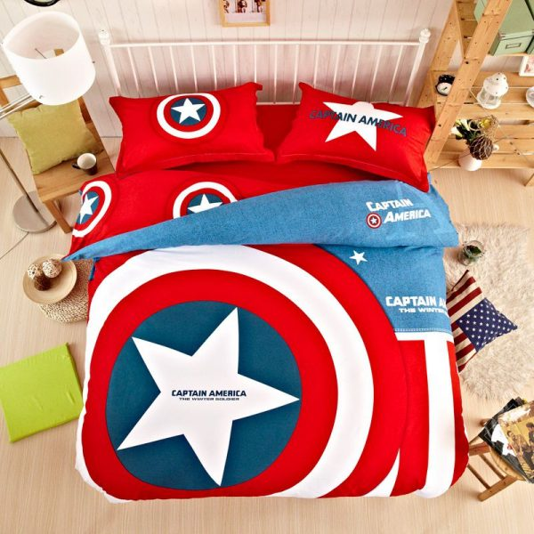 Captain America Bedding Set Twin Queen King Size