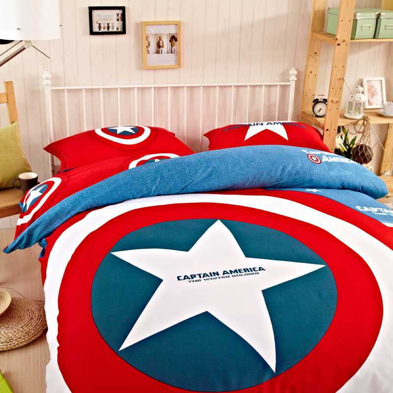 Captain America Bedding Set Twin Queen King Size Comforter Set