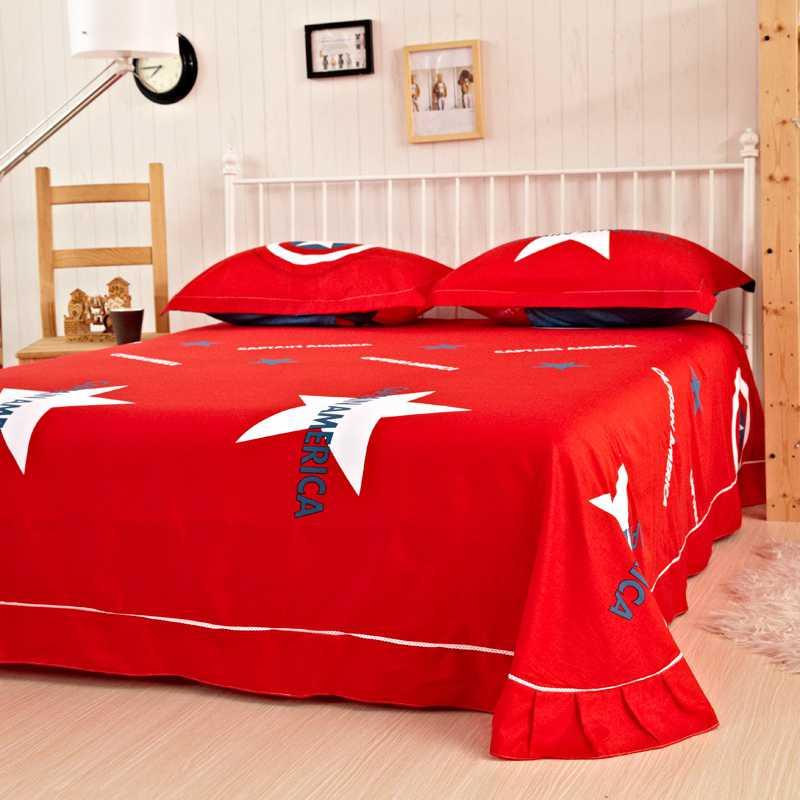 Super Captain America Bedding Set Twin Queen King Size Comforter Set ZR51