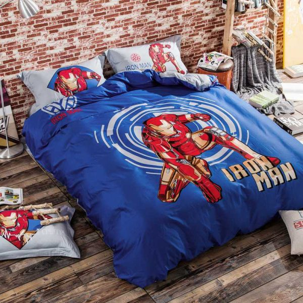 Iron Man Bedding Sets Twin Queen King Size