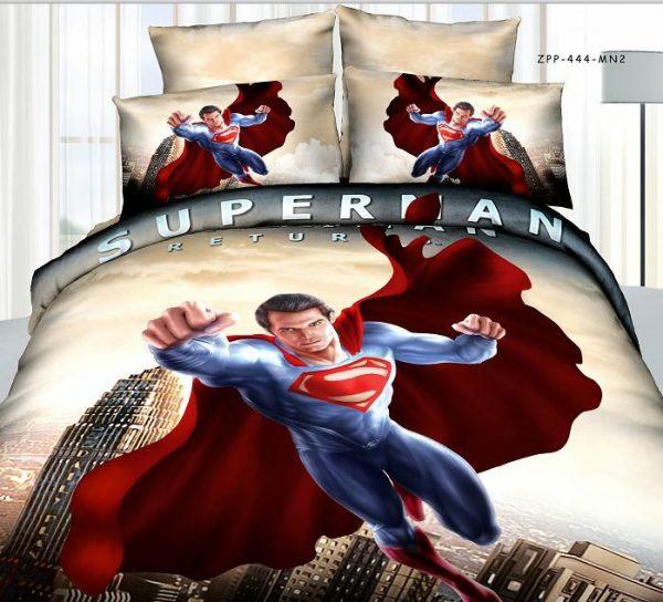 Kids Super Man returns Comforter Set Queen