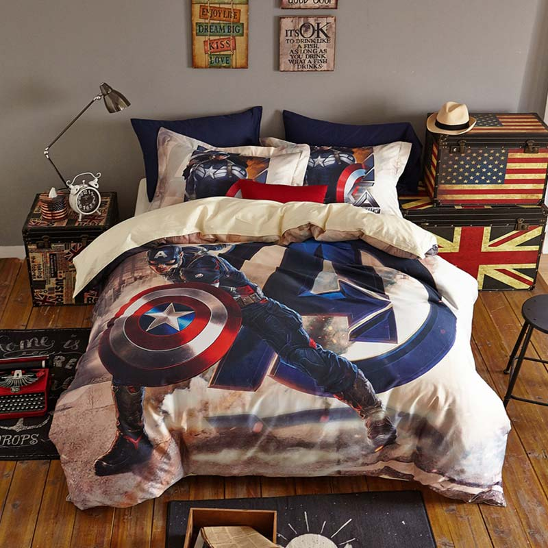 marvel captain america bedding set twin queen size