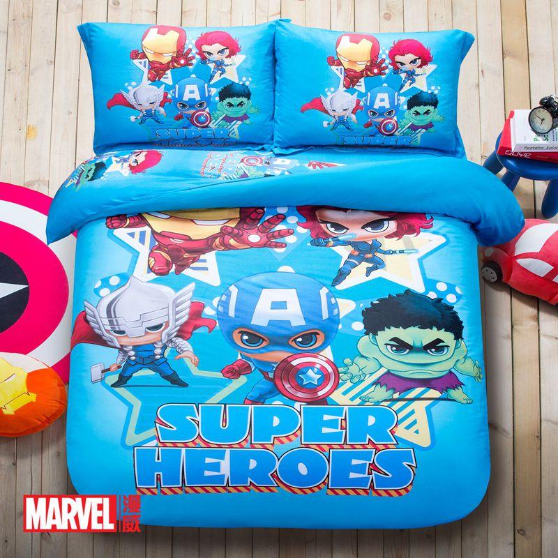 Queen Size Marvel Comic Bedding