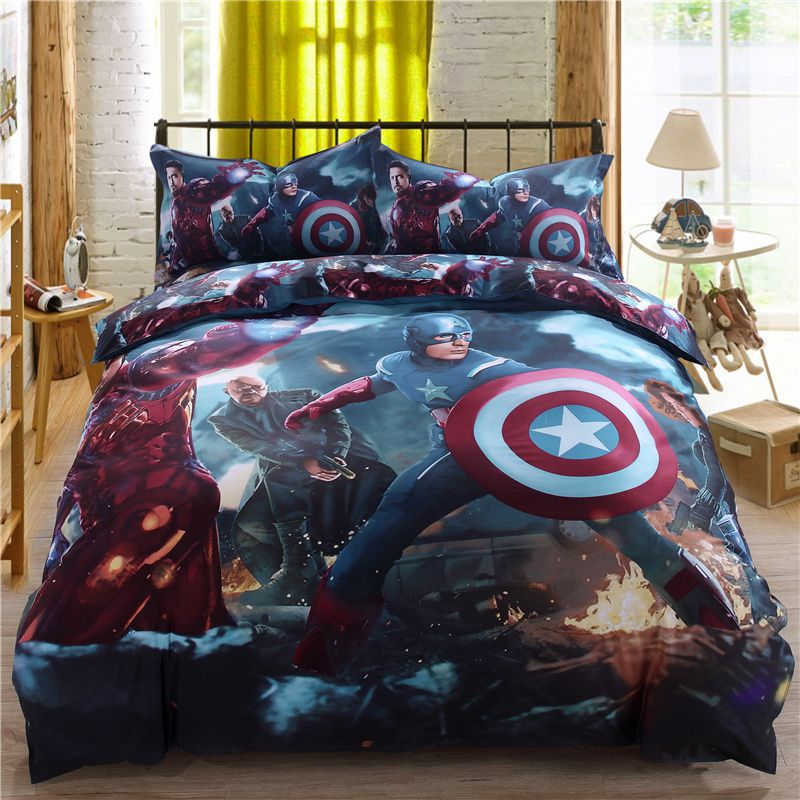 Marvel Super Heroes Bedding Set Twin Queen King Size
