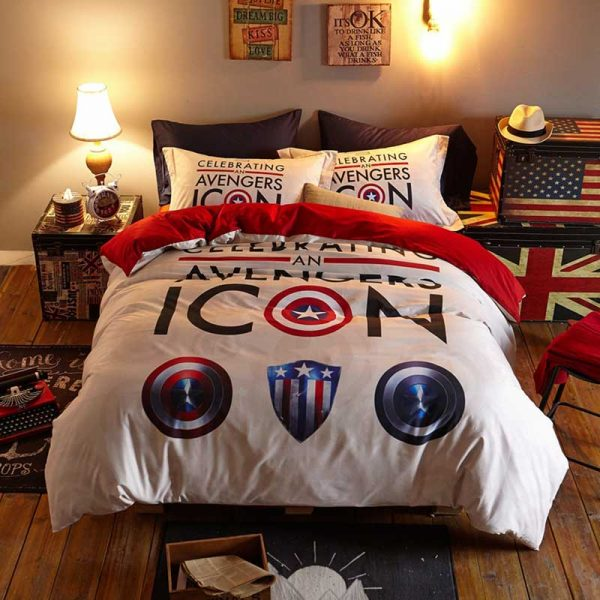 Marvel avengers Icons Bedding Set Twin queen size