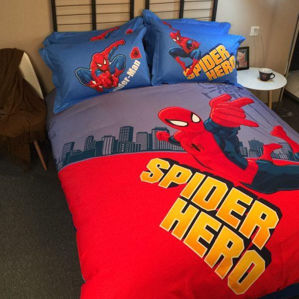 Spider Hero Spider man Comforter Set For teens