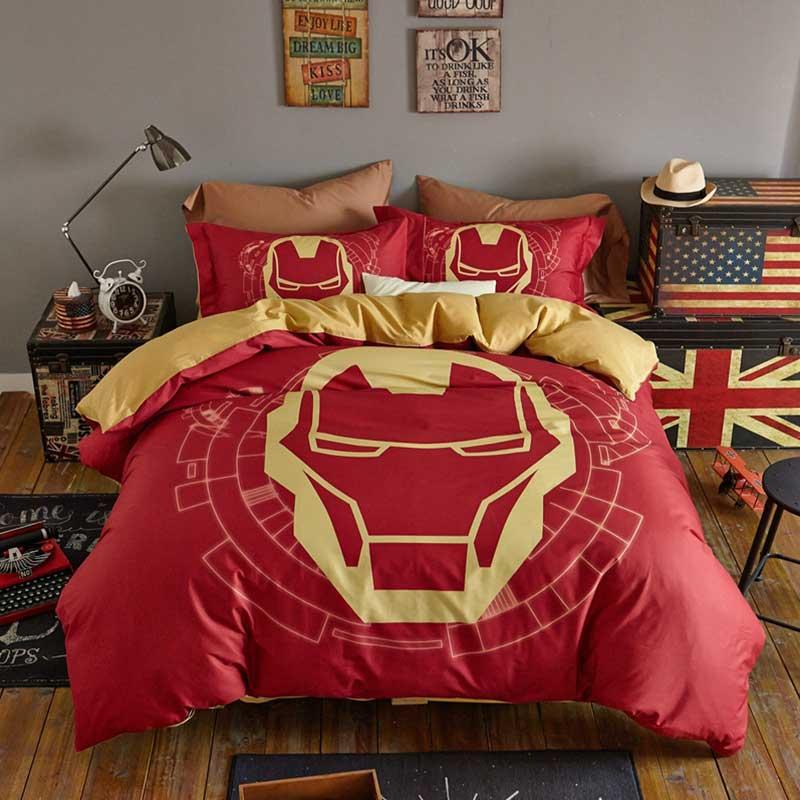 Delivered Captain America Bedding Jz Hero Pattern Plush Cartoon Sets Superman