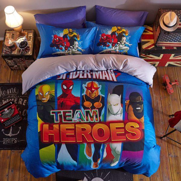 Super Heroes Spider Man Team Heroes Bedding Set