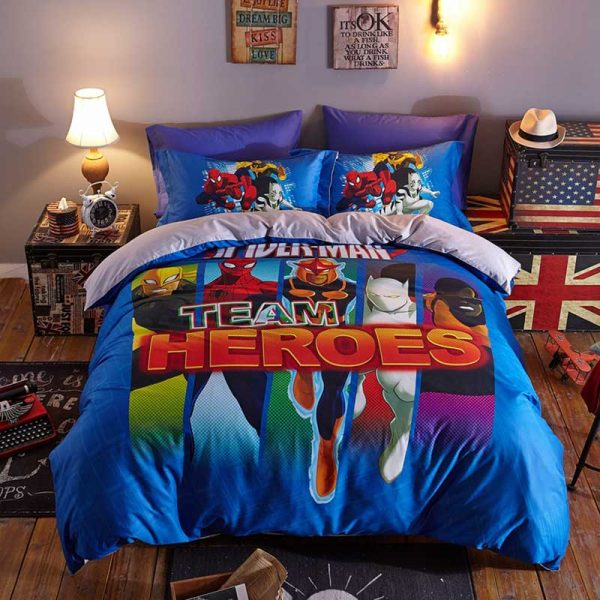 Super Heroes Spider Man Team Heroes Bedding Set