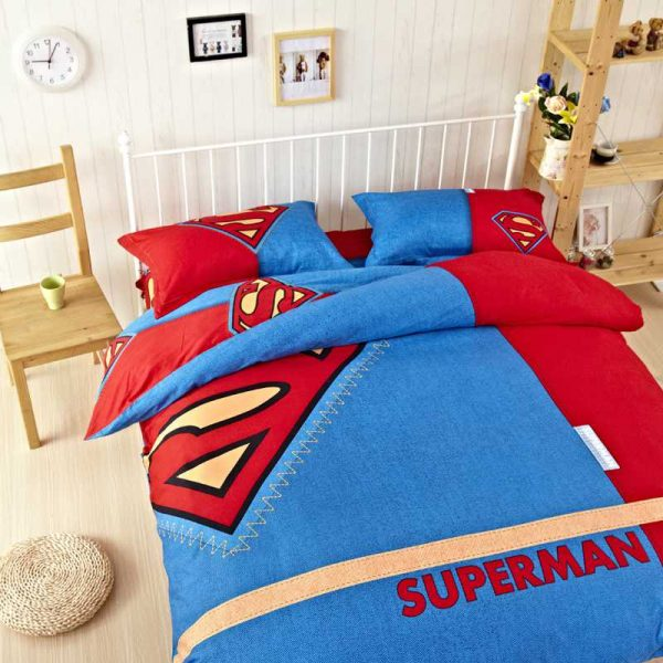 Super Man Bedding Set Twin Queen king Size
