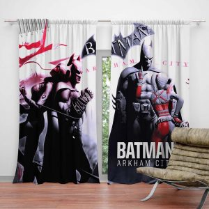 Batman Arkham City Curtain For Teen Boys Bedroom