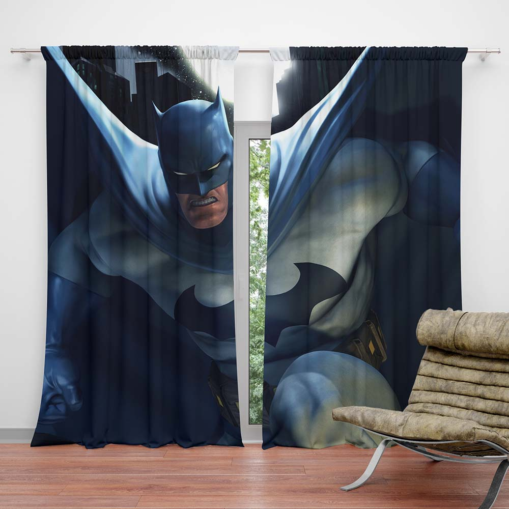 Enjoyable Batman Kids Bedroom Curtain Machost Co Dining Chair Design Ideas Machostcouk