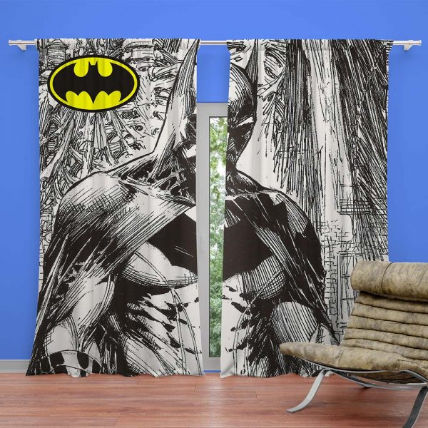 Batman ready made Curtain for kids bedroom