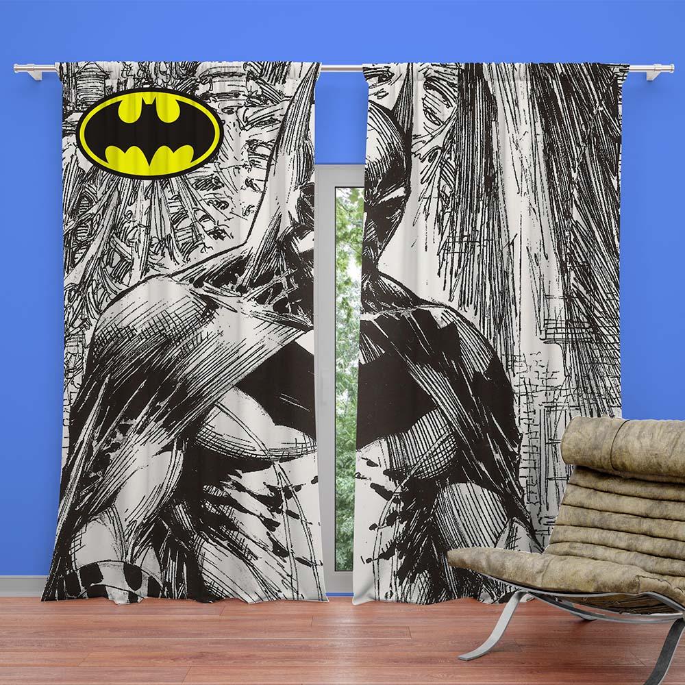 Unique Batman Vs Superman Bedroom Ideas That Rock: Batman Ready Made Curtain For Kids Bedroom