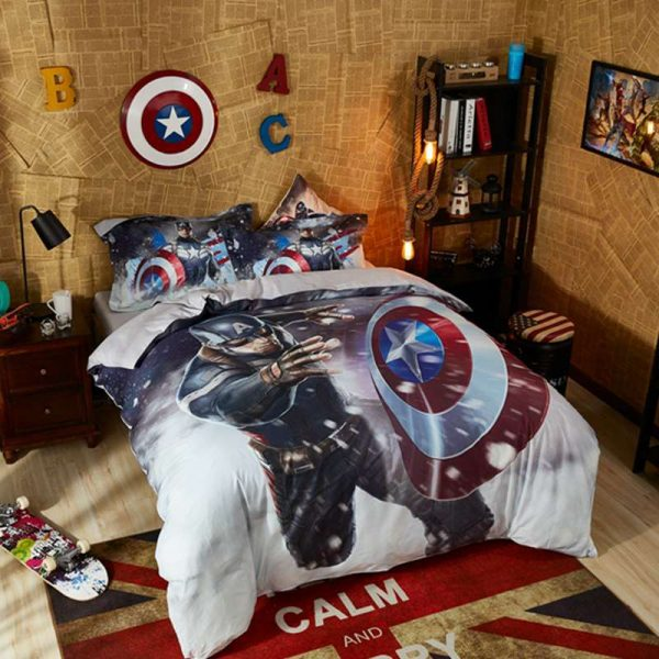 Captain America Marvel Comics Bed in a Bag Twin Queen Size Set