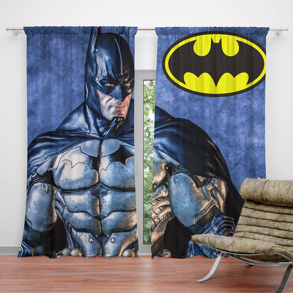 Children Bedroom Batman Curtain Super Heroes Bedding