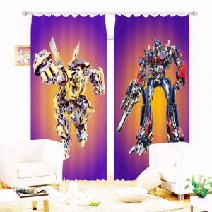 Super Hero Transformers Movie Themed Curtain