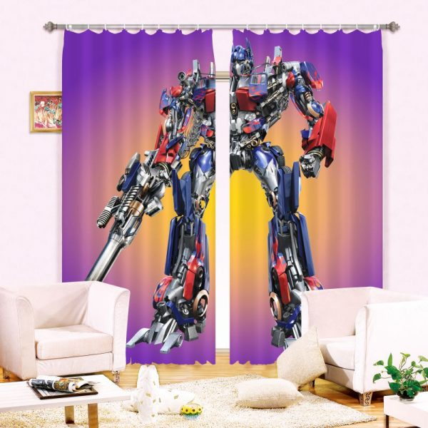 Teen Bedroom Curtain Transformers Themed