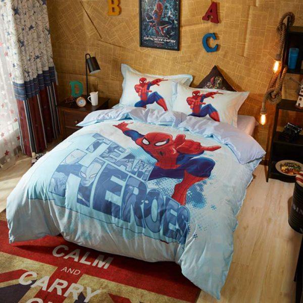 Kid's Super Hero Spider Man Bedding Set Twin Queen Size