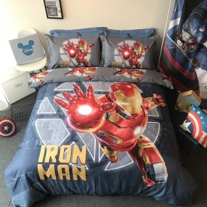 Marvel Iron Man Comforter Set Twin Queen Size (1)