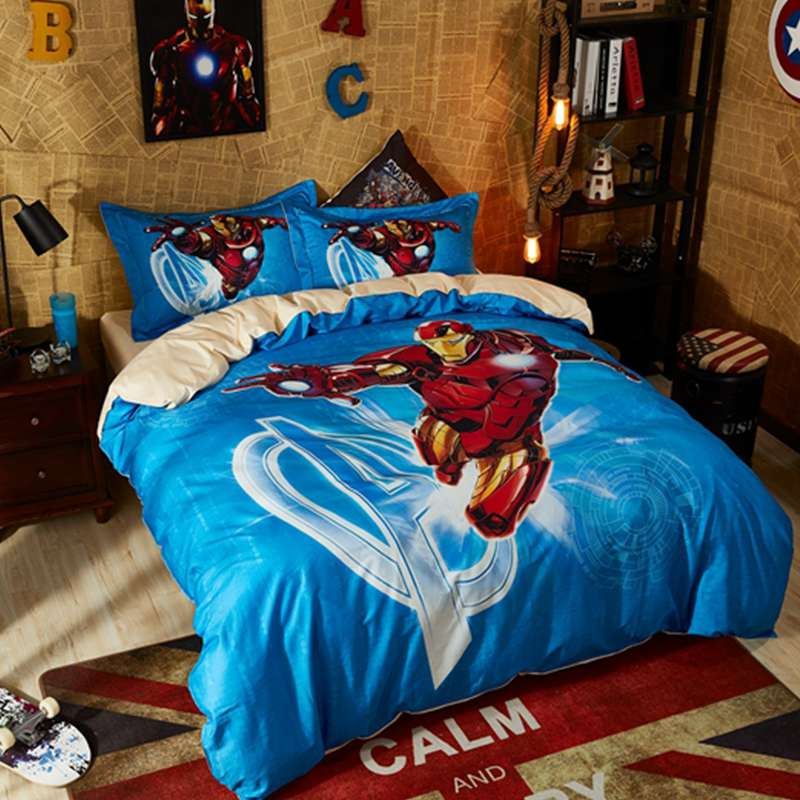 Get Quotations Marvel Avengers 7 Piece Bed In A Bag Full Size Bedding Set Reversible Comforter