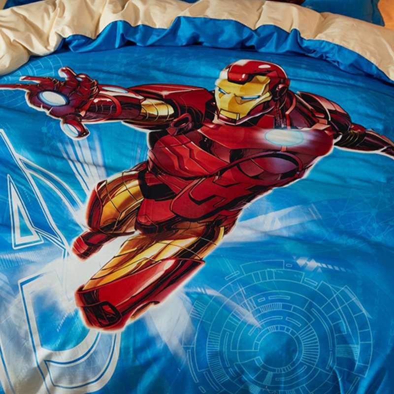 Youth Kids Bedroom Batman Dark Knight Twin Size Platform: Marvel Iron Man Comforter Set Twin Queen Size Super Heroes