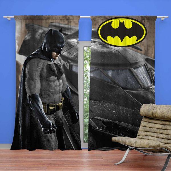 Super Hero Batman Movie Kids Curtain