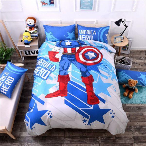 Super Hero Captain America Bedding Set Twin Queen Size (1)