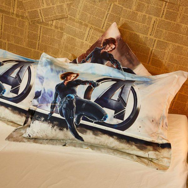 The Avengers Black Widow Comforter Set Twin Queen Size