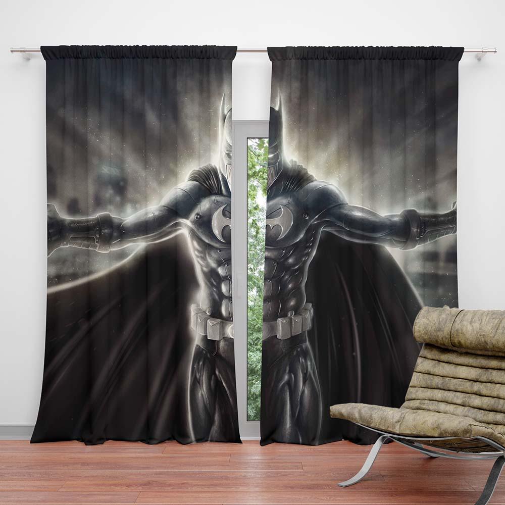 Unique Batman Vs Superman Bedroom Ideas That Rock: Warner Bros Batman Teen Bedroom Curtain