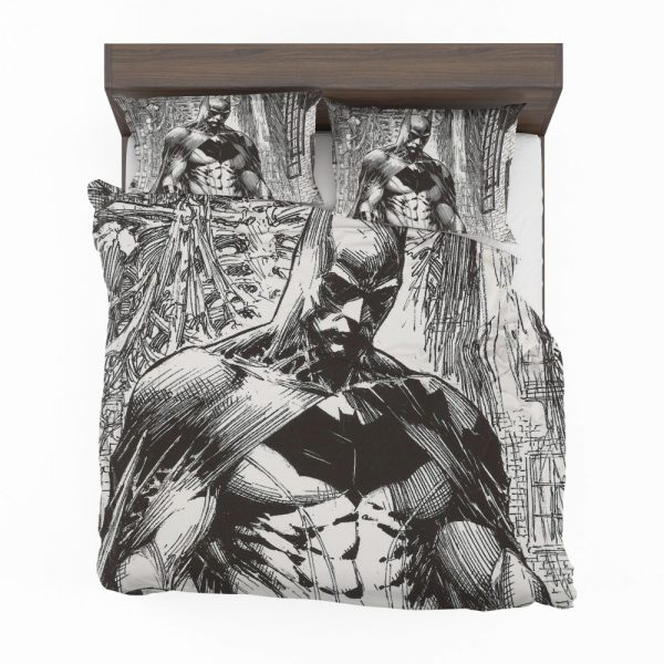 Batman Black & White Comic Art Bedding Set
