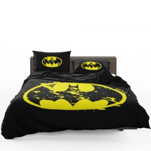 Batman Yellow DC Symbol Comforter Set