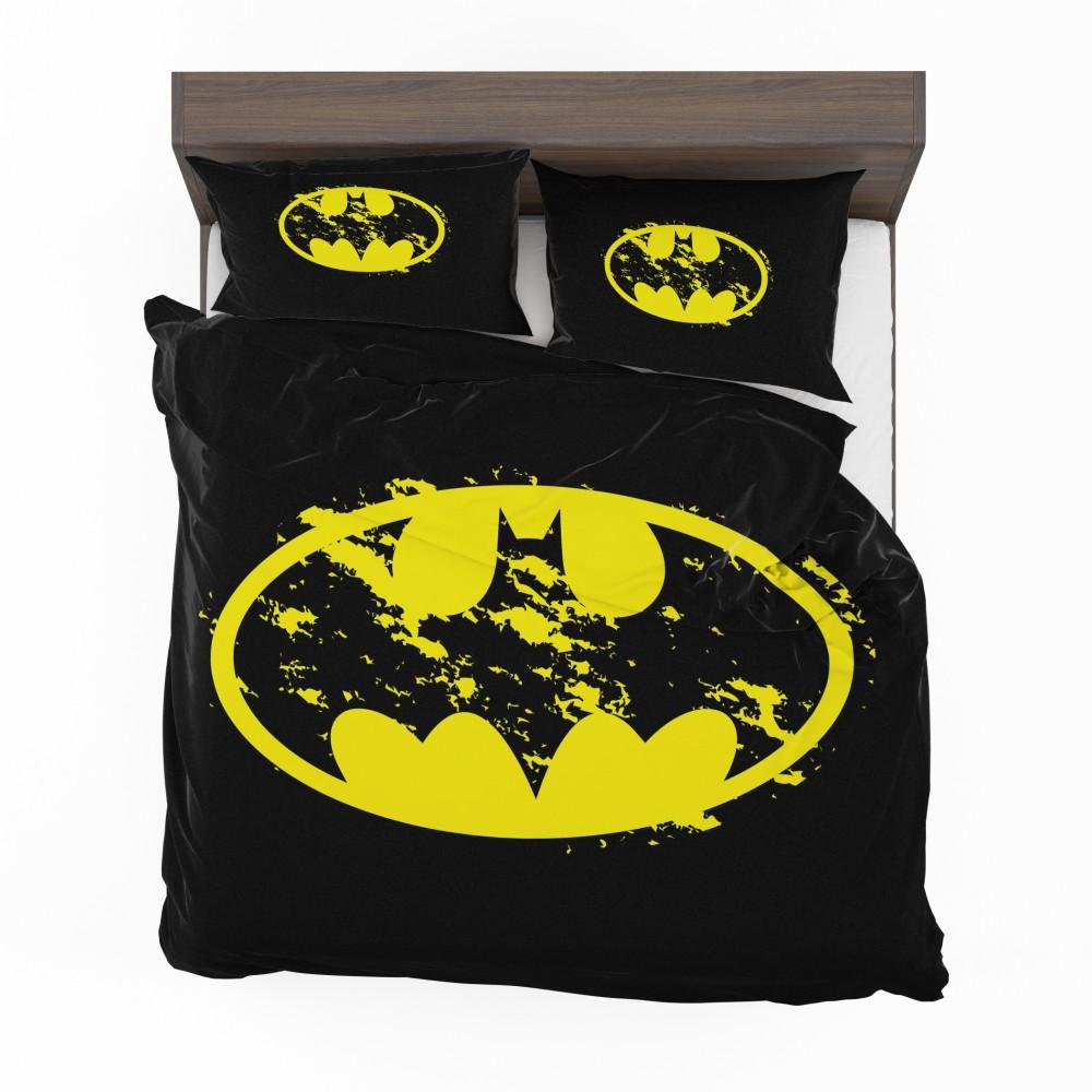 Unique Batman Vs Superman Bedroom Ideas That Rock: Batman Yellow DC Symbol Comforter Set