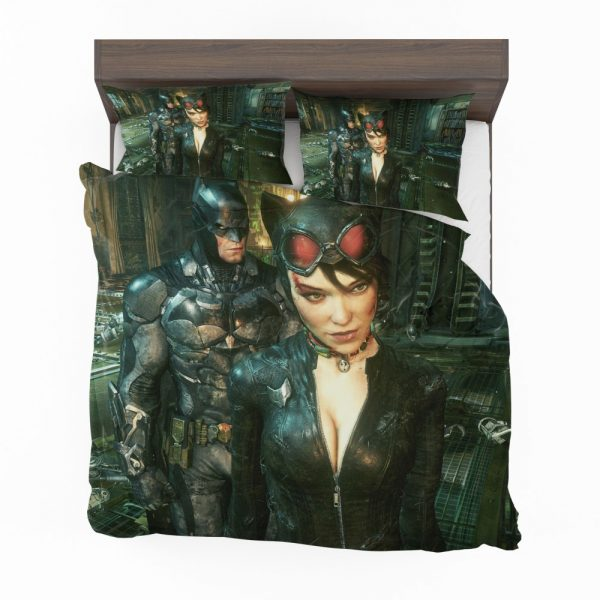 Batman and Catwoman Arkham Knight Bedding Set