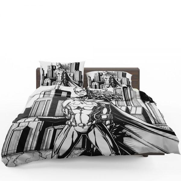 Batwoman Black & White Comic Art Bedding Set