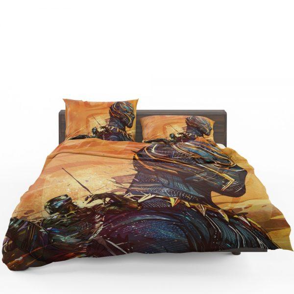 Black Panther Artwork Marvel Comics Bedding Set