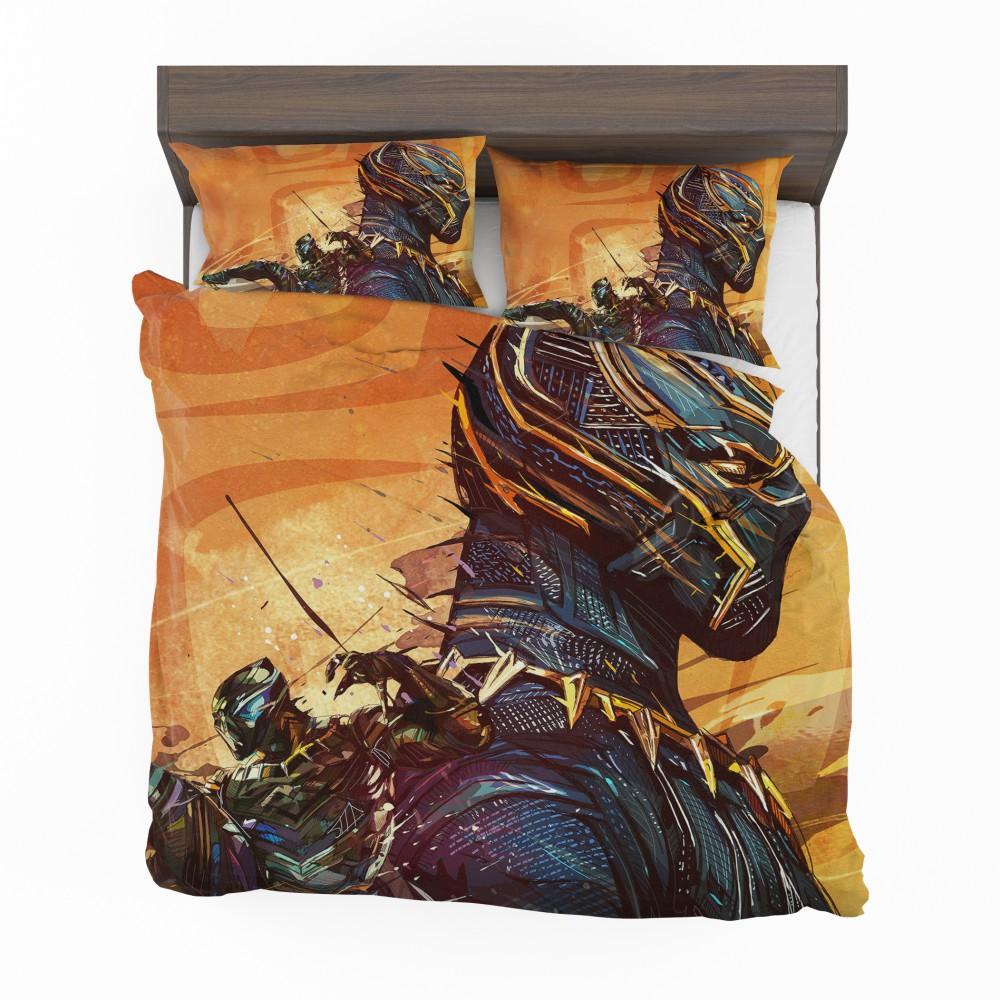 Black Panther Artwork Marvel Comics Bedding Set Super