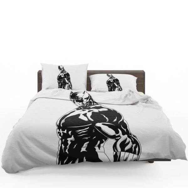 Black Panther Comics Drawing Bedding Set