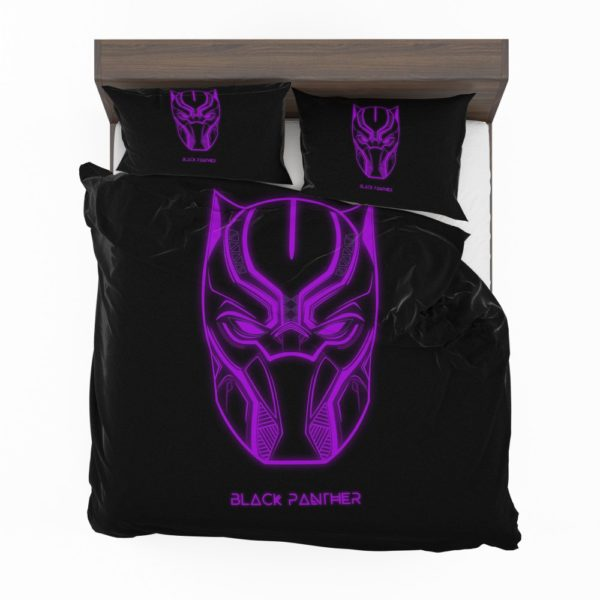 Black Panther Marvel Comics Purple Black Dark Bedding Set
