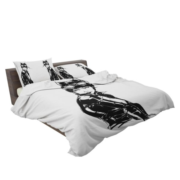 Catwoman Sketch Drawing Bedding Set