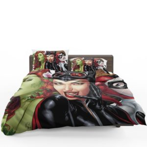 DC Gotham City Sirens Harley Quinn Poison Ivy Catwoman Bedding Set