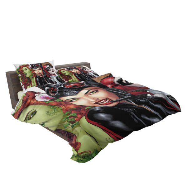 DC Gotham City Sirens Harley Quinn Poison Ivy Catwoman Bedding Set