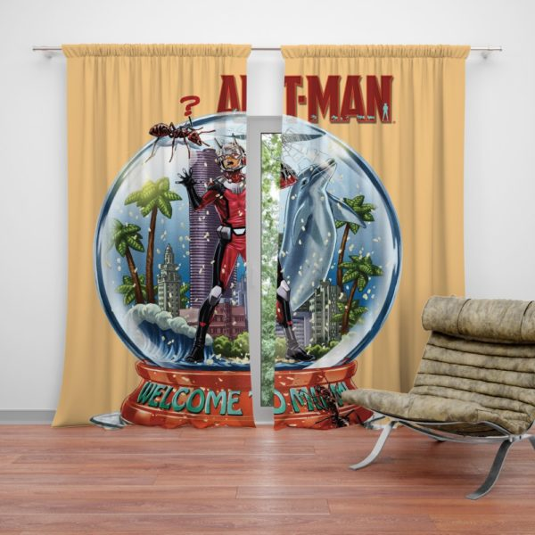 Marvel Comics Ant-Man In Snow Globe Curtains