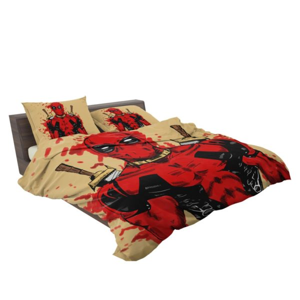 Deadpool Marvel Comic Art Bedding Set 3