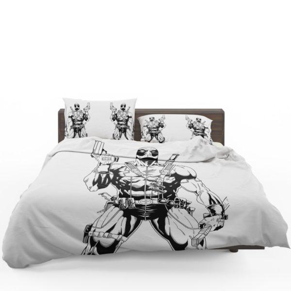 Deadpool's White X Force Suit Stencil Art Bedding Set 1