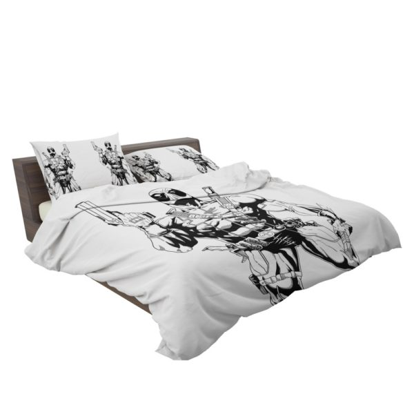 Deadpool's White X Force Suit Stencil Art Bedding Set 3