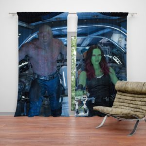 Drax The Destroyer and Gamora Guardians of the Galaxy 2 Curtain