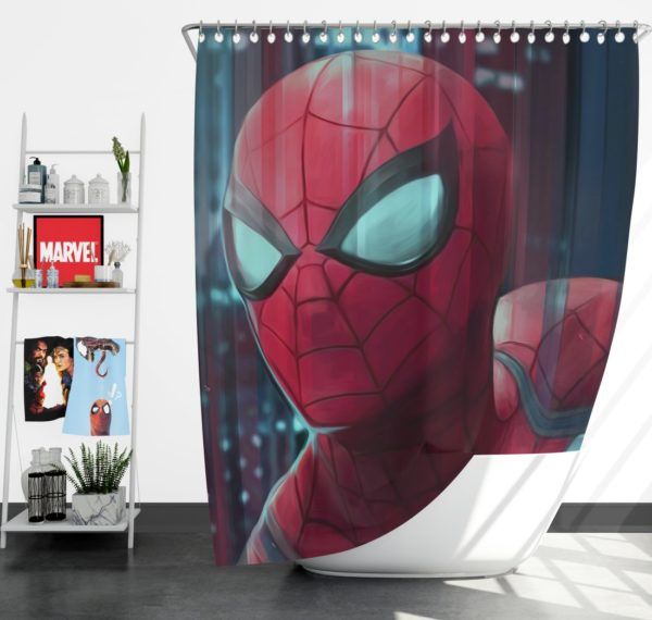 Fantastic Four Spider-Man Marvel Shower Curtain