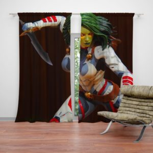 Gamora Comics Figurine Statue Curtain